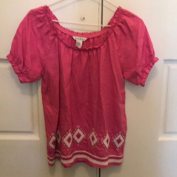 Alexandra Bartlett Pink Top with Embroidery Sz Sm